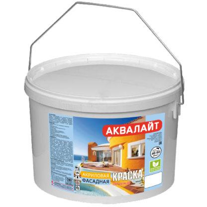 Краска фасадная акриловая АКВАЛАЙТ 10 л