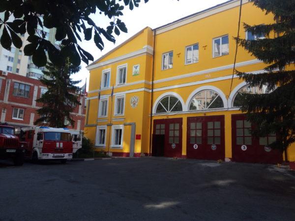 Покраска фасада пожарной части красками Аквалайт